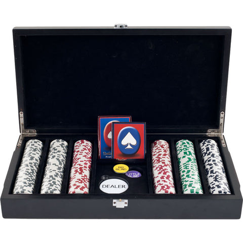 Trademark Commerce 10-1003-32001 300 11.5G 4 Aces Poker Chips In Las Vegas Sign Case - Peazz.com