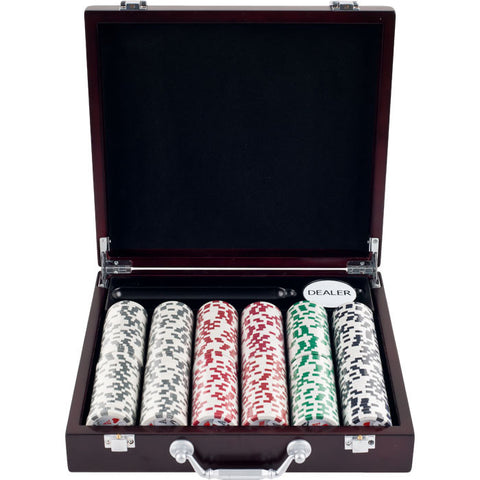 Trademark Commerce 10-1003-33701 300 11.5G 4 Aces Poker Chip Set In Cigar Tray Chip Case - Peazz.com