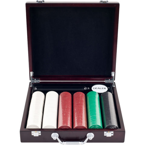 Trademark Commerce 10-1012-33701 300 8.5G Super Diamond Poker Chips In Cigar Tray Chip Case - Peazz.com