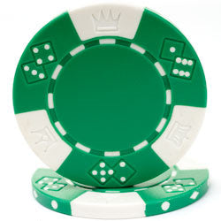 Trademark Poker 10-1025 Lucky Crown 11.5G Poker Chips - Peazz.com