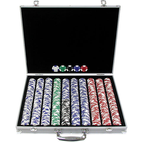 Trademark Commerce 10-1025-1ks 1000 Pc Lucky Crown 11.5G Chip Set W/Executive Case - Peazz.com
