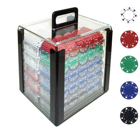 Trademark Commerce 10-1080-1car 1000 11.5G Suited Design Poker Chips In Acrylic Carrier - Peazz.com