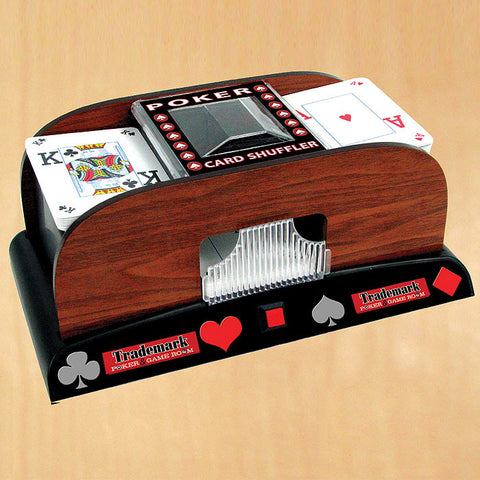 Trademark Commerce 10-1459 Poker Wooden Card Shuffler - Peazz.com