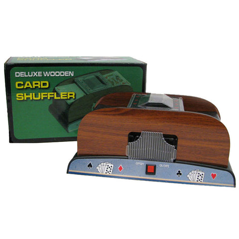 Trademark Commerce 10-37581 1-2 Deck Deluxe Wooden Card Shuffler - Peazz.com