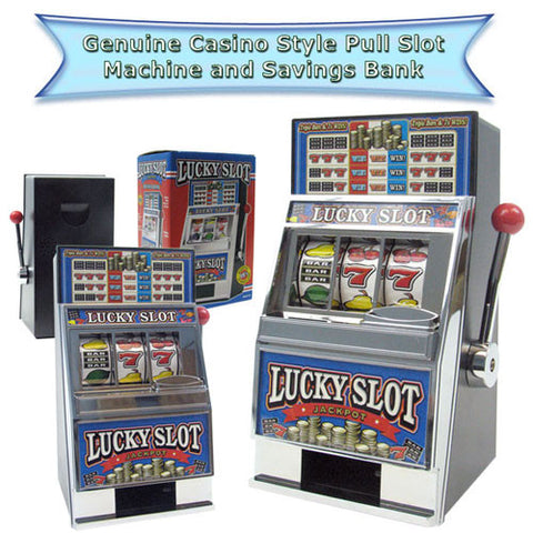 Lucky Slot Machine Bank - Peazz.com