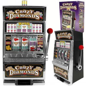 10-41740-100 Crazy Diamonds Slot Machine Bank With 100 Tokens - Peazz.com