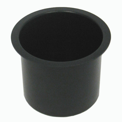 Trademark Poker 10-48201Blk Jumbo Aluminum Black Poker Table Cup Holder - Peazz.com