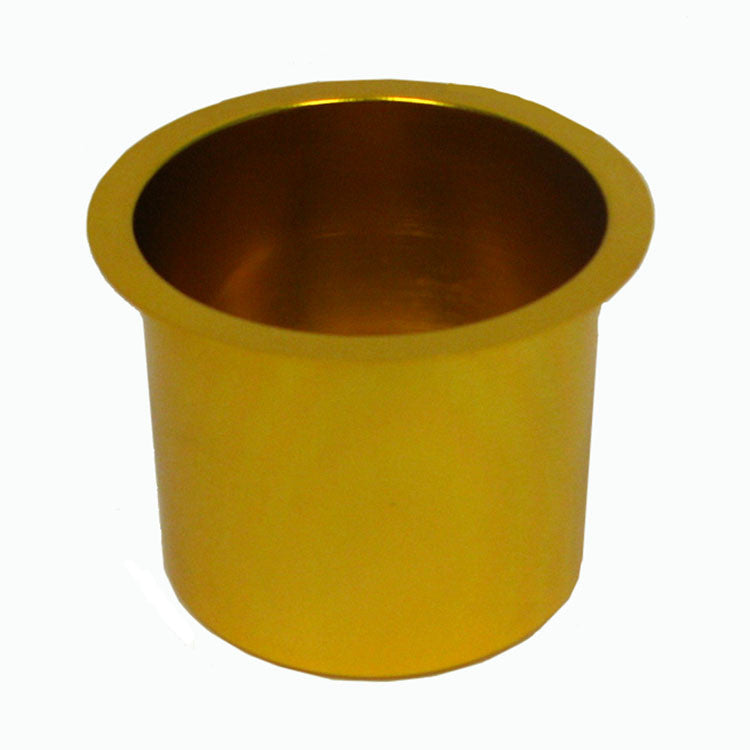 Trademark Poker 10-48201Gold Jumbo Aluminum Gold Poker Table Cup Holder TMC-10-48201GOLD