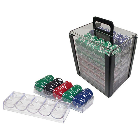 Trademark Commerce 10-5030-10CAR 1000 Chip Capacity Clear Carrier - Includes Chip Trays! - Peazz.com