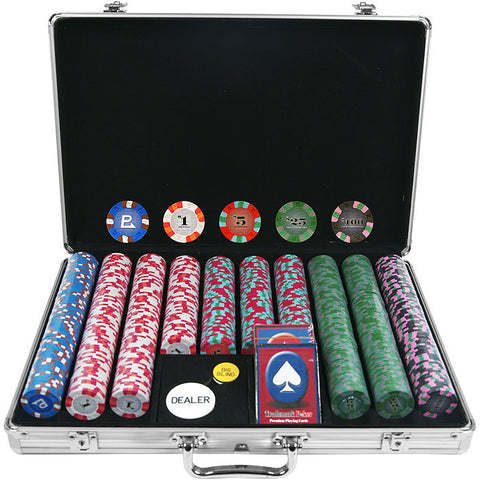 Trademark Commerce 10-6000-650SDX 650 Chip NexGenpro Classic Style Set - Aluminum Case - Peazz.com