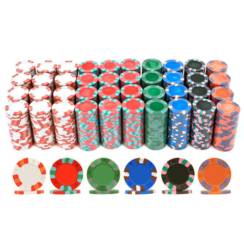 Trademark Commerce 10-6002-1000 1000 NexGen Pro Classic Poker Chips - Peazz.com
