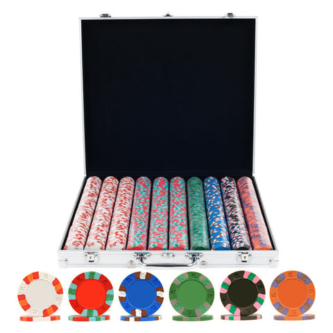 Trademark Commerce 10-6002-1KS 1000 NexGen Pro Classic Poker Chips W/ Aluminum Case - Peazz.com