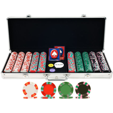 Trademark Commerce 10-6002-5001S 500 NexGen Pro Classic Poker Chips W/ Aluminum Case - Peazz.com