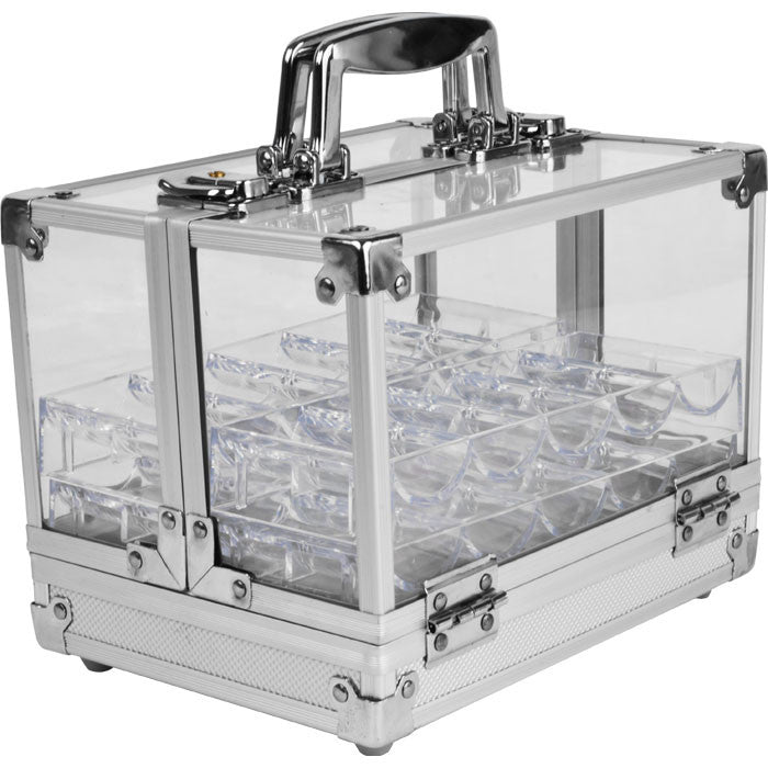 Trademark Poker 10-6Clset Trademark Pokert 600 Chip Capacity Acrylic Case W/ 6 Trays TMC-10-6CLSET