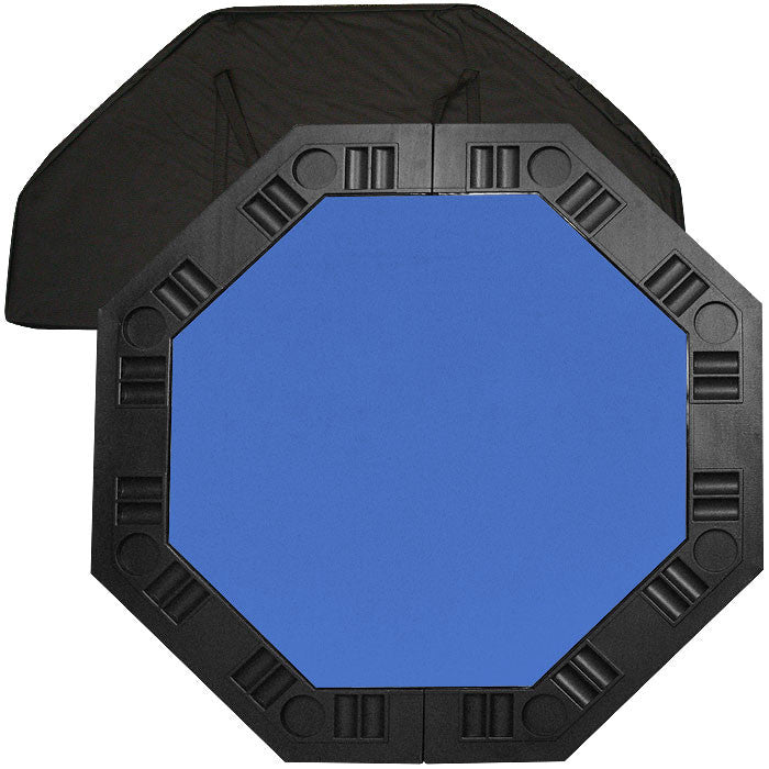 Trademark Commerce 10-8250-BLU 8 Player Octagonal Table Top - Blue - 48 Inch