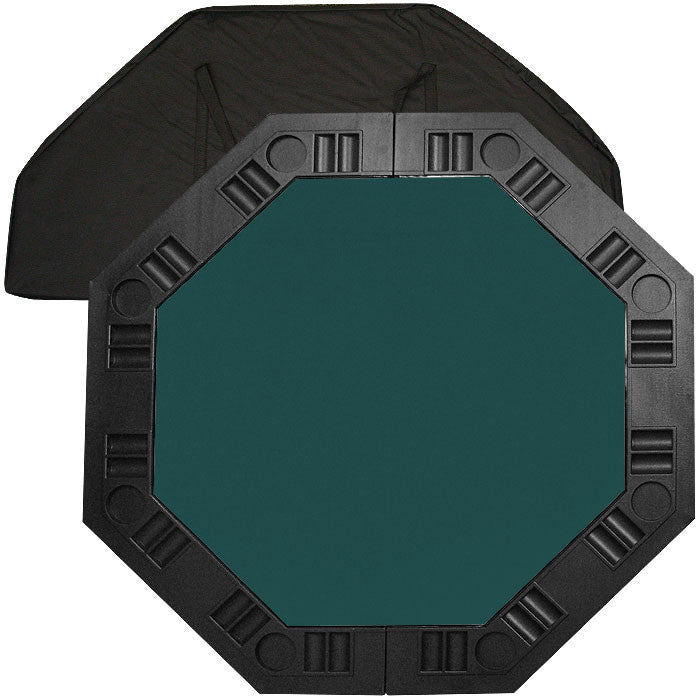 Trademark Commerce 10-8250-DKB 8 Player Octagonal Table Top - Dark Green - 48 Inch