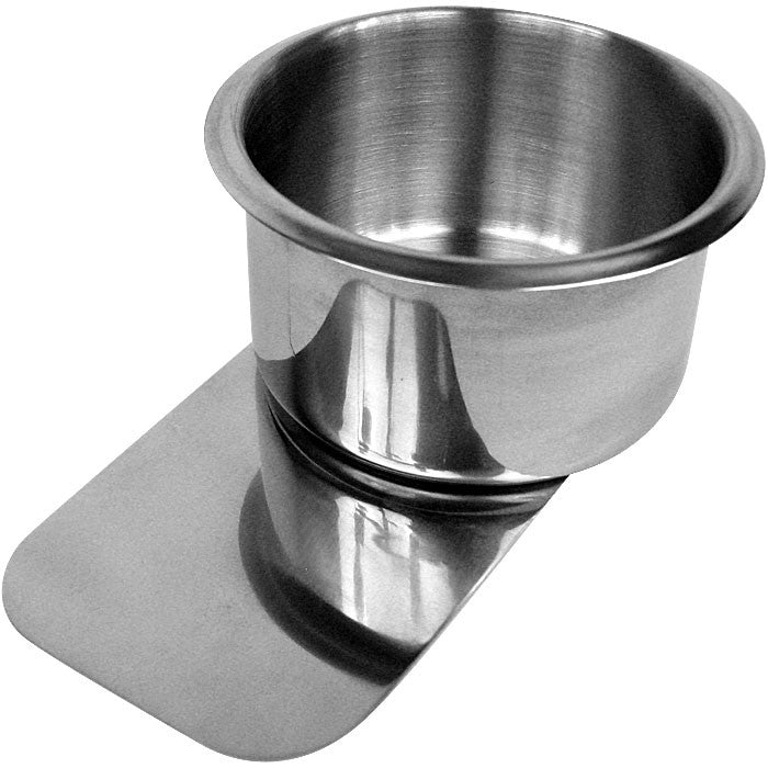 Trademark Commerce 10-D4518 Jumbo Stainless Steel Slide Under Cupholder