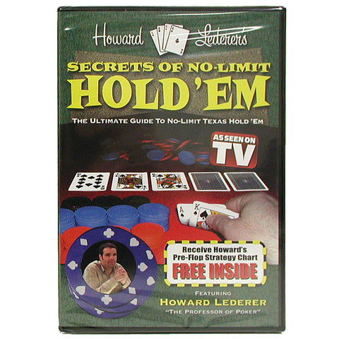 10-Hldvd Dvd - Secrets Of No-Limit Hold'Em With Howard Lederer - Peazz.com