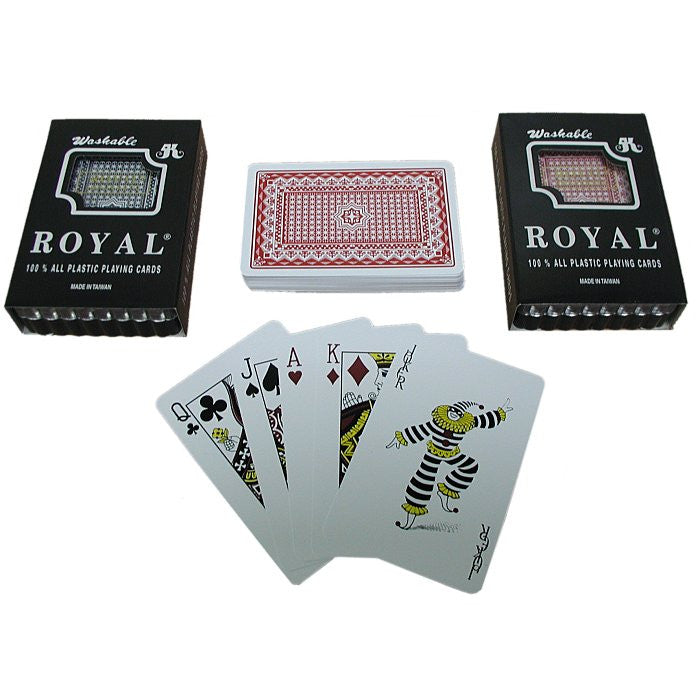 Trademark Poker 10-Plastic1 Two Decks- Royal 100% Plastic Playing Cards W/ Star Pattern