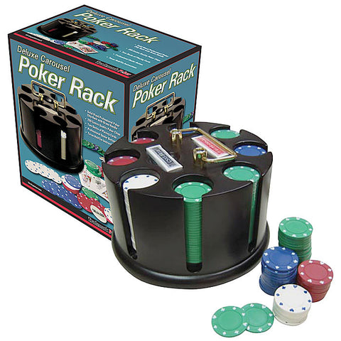 Trademark Poker 10-Tinpokerrack Deluxe Carousel Poker Rack Set Pre-Packaged - Peazz.com