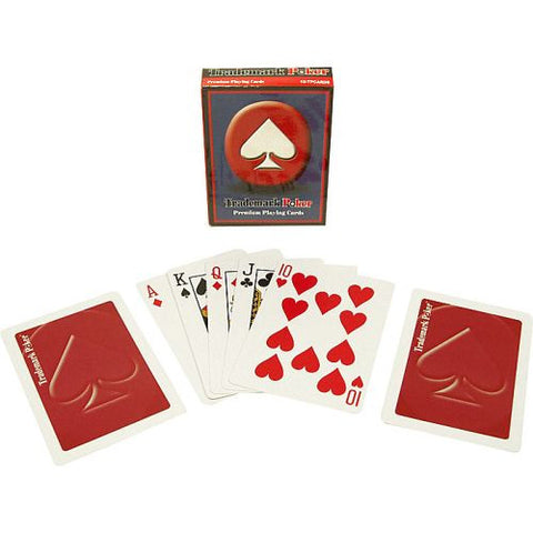 Trademark Poker 10-Tmdeckred Trademark Pokert Premium Playing Cards - Red - Peazz.com