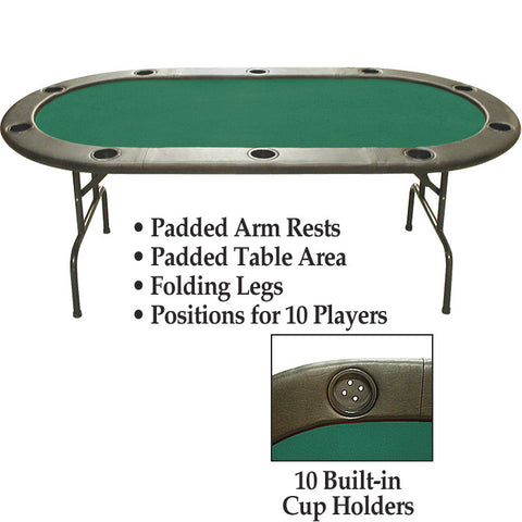 10-Xx-210Tp 96 Inch Hold'Em Table Without Dealer Position - Imperfect - Peazz.com