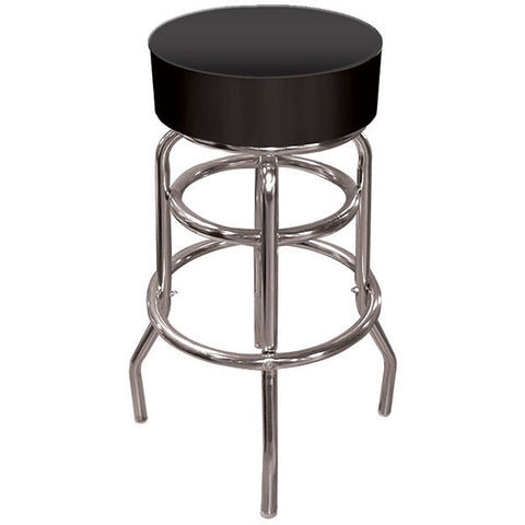 High Grade Black Padded Bar Stool - Peazz.com