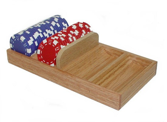 Trademark Poker 1144945 Solid Wood Chip Tray...Chip Holders