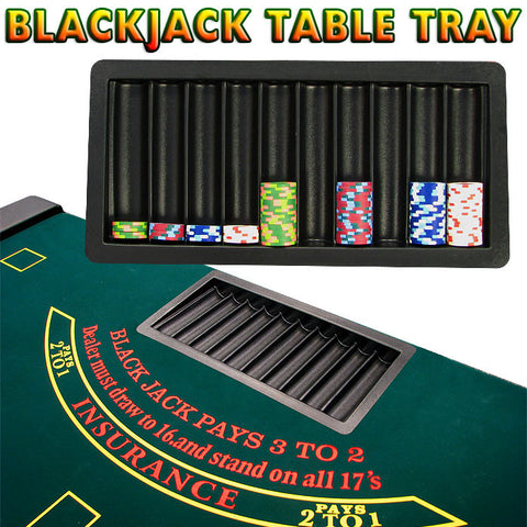 Trademark Poker 1150789 Blackjack Table Tray 10 Row - Peazz.com