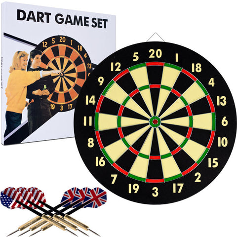 Trademark Commerce 15-DG5218 TGT Dart Game Set with 6 Darts & Board - Peazz.com