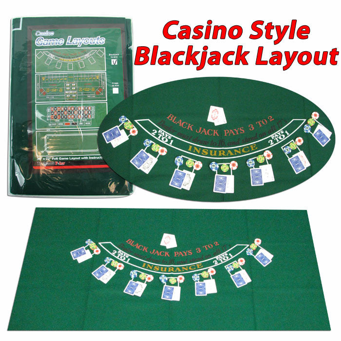 405694 Blackjack Layout 36 X 72 Inch TMC-405694