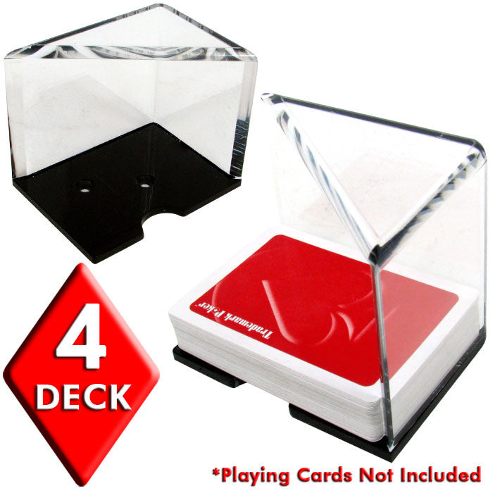 438931 4 Deck Professional Grade Acrylic Discard Holder With Top