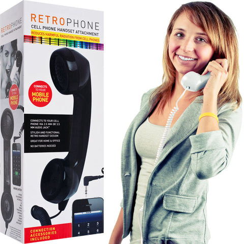 72-5505W Retro Phone Cell Phone Handset - White - Peazz.com