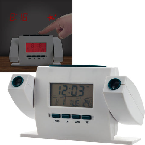 72-6066 Dual Projection Alarm Clock With Fm Radio - Peazz.com