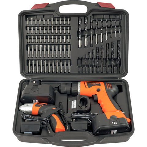 Trademark Commerce 75-10601 Trademark Tools 74 piece Combo Cordless Drill & Driver - Peazz.com