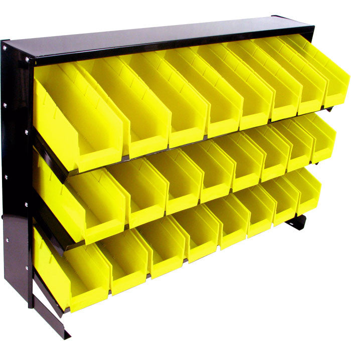 Trademark Commerce 75-24bin Trademark Tools 24 Bin Parts Storage Rack Trays