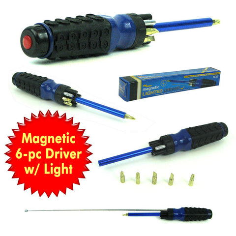 Trademark Tools 75-2510 Trademark Tools 8 In 1 Multipurpose Lighted Magnetic Driver - Peazz.com