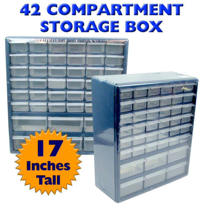 Trademark Commerce 75-3021 Trademark Tools Deluxe 42 Drawer Compartment Storage Box