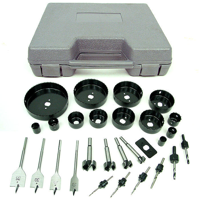Trademark Commerce 75-3131 Trademark Tools Loaded 31 Piece Hole Saw and Drill Bit Kit