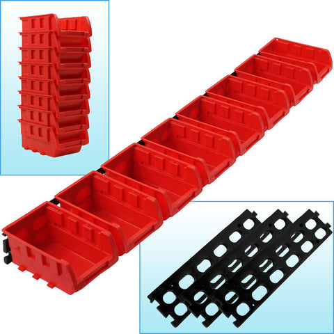 Trademark Tools 75-5197 Trademark Tools 8 Bin Wall Mounted Parts Rack - Peazz.com