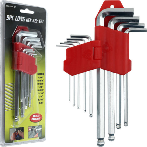 Trademark Tools 75-6109Bp Trademark Tools 9 Piece Allen Wrench Hex Set Ball Head - Peazz.com
