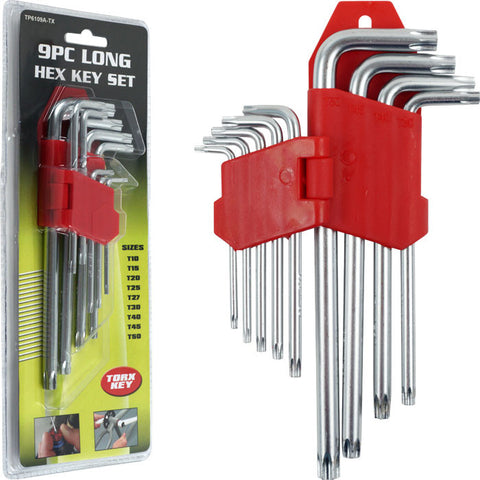Trademark Tools 75-6109Tx Trademark Tools 9 Piece Long Torx Key Set - 9 Pc. - Peazz.com