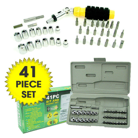 Trademark Tools 75-8041A Trademark Tools 41 Piece Professional Screwdriver Bit & Soc - Peazz.com