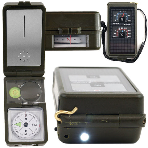 Trademark Commerce 75-AS003 Happy CamperT 10 in 1 Multi-Function Compass with LED Light - Peazz.com