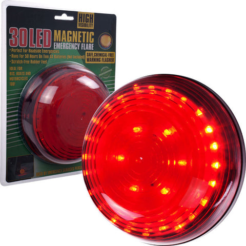 75-Fl249R Super Bright 30 Led Magnetic Emergency Flasher - Red - Peazz.com