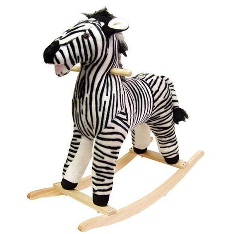 Zebra Plush Rocking Animal - Peazz.com