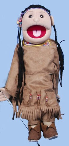 "28"" American Indian Girl Puppet Brown Costume - Peazz.com"