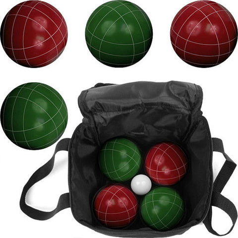 Full Size Premium  Bocce Set with Easy Carry Nylon Bag - Peazz.com