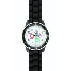 80-80121 Glee Logo Watch Crisscross Logo With Black Band - Peazz.com