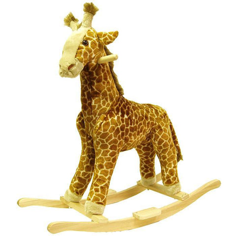 Giraffe Plush Rocking Animal - Peazz.com
